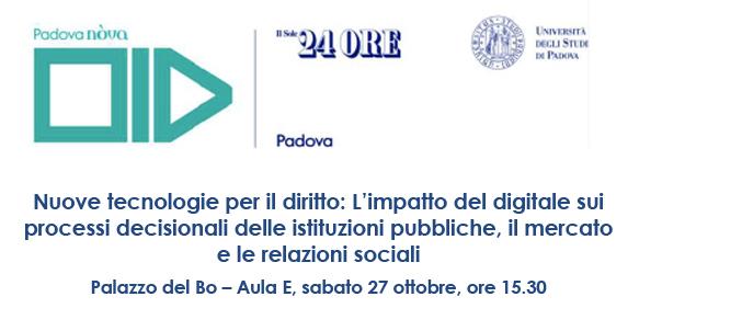 Nuove tecnologie per il diritto: L'impatto del digitale sui processi decisionali delle istituzioni pubbliche, il mercato e le relazioni sociali